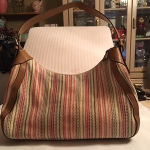 Fossil Striped Woven Hobo Bag